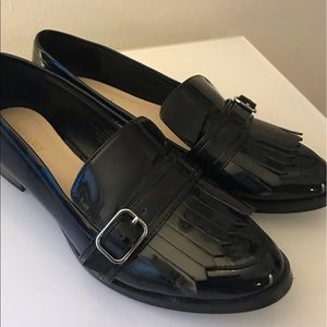 Patent Leather Fringe Loafers